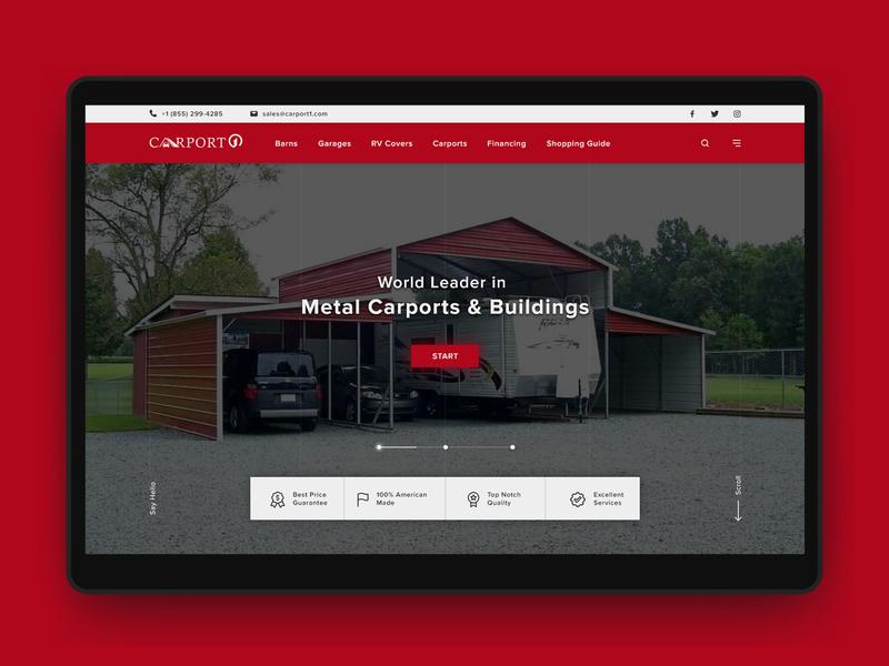 Carport1 - Landing Page landing page 2019 minimal website landing page landing page ui ui design uiux creative web design website design