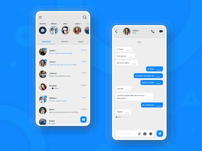 Messaging App 2019 app dashboard landing page clean minimal colorful landing page messaging app ui uiux ui chating chating app messaging app