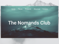"""The nomands club"" travel agency landing page"