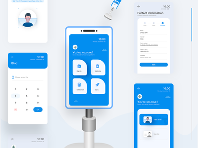 face-scan payment amount blue trading pay 2020 face scan ux design illustration ui