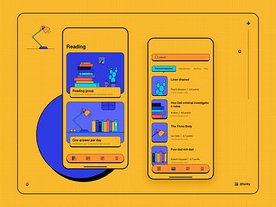 Reading App 2020 design illustration ui app reading book reading