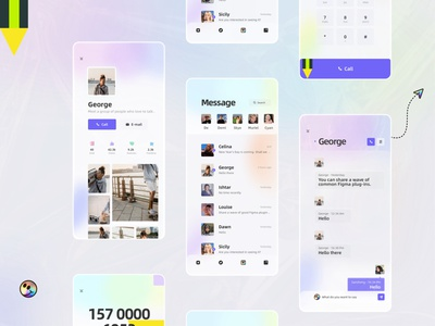 Social App communication information message phone product chat 2020 design illustration email design ui