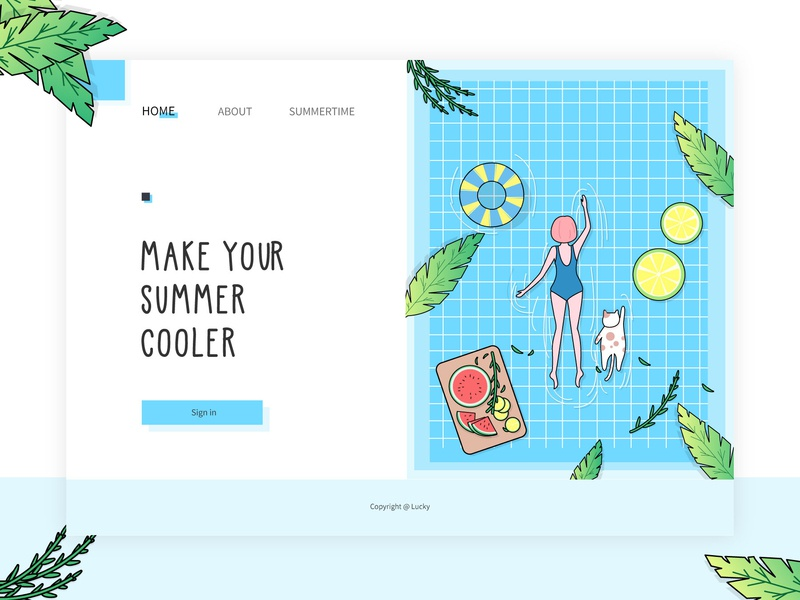 Summertime illustration 设计 design ui 插图