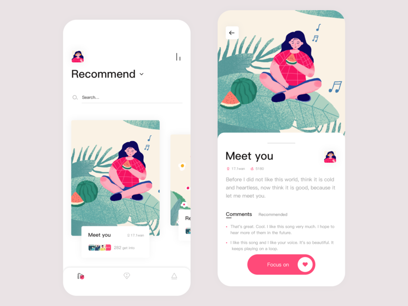 Music app 插图 设计 ui