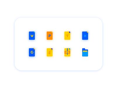 Document file icon logo design illustration ui