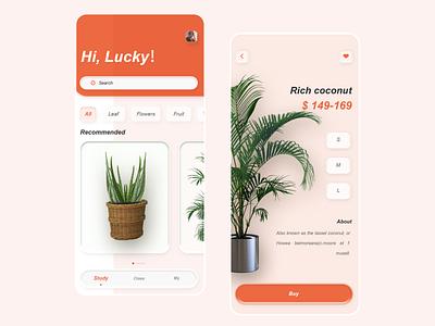 Green plant app buy goods 2020 ux design illustration ui