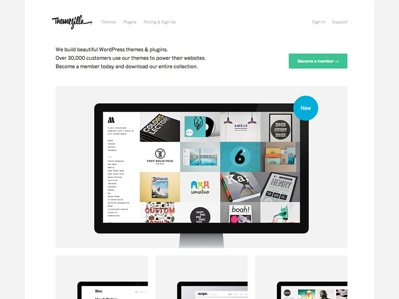 Themezilla Relaunch wordpress themezilla simple benton sans