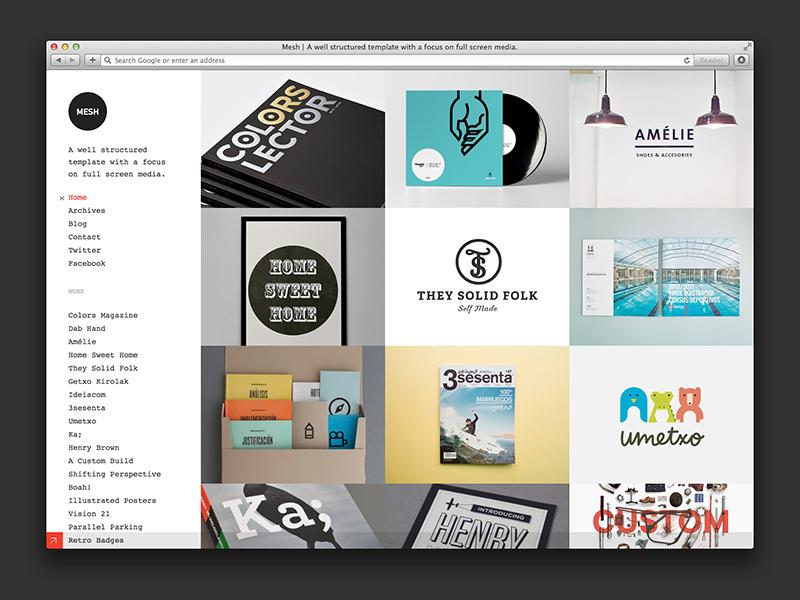 Mesh WordPress Theme wordpress themezilla portfolio theme