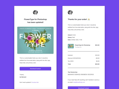 Customer Emails checkout flow shopping cart shopping app shopping cart clean design clean ui clean checkout process checkout page checkout email template email receipt email design email ecommerce business ecommerce design ecommerce shop ecommerce app ecommerce