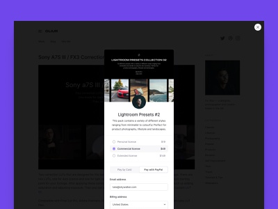Checkout Overlay clean design clean ui clean minimalistic minimalism minimalist minimal ecommerce business ecommerce design ecommerce shop ecommerce app ecommerce cart checkout form checkout page checkout
