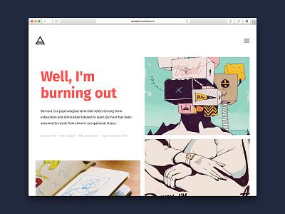 Axis fira sans dunked portfolio template