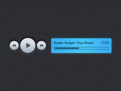 Dodgin' Your Phone lcd music player buttons