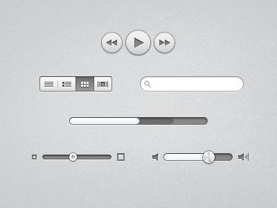 UI ui button search nav progress slider volume
