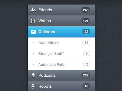 Menu menu navigation iconsweets2 free freebie
