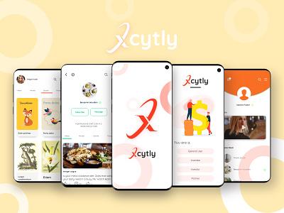 Xcytly hire portfolio website sharing ebooks audio video work freelance social media ui mobile ui mobile app