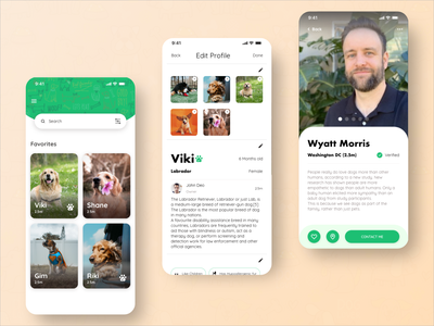 Pet Sitting App travel dog owners dog lovers ux ui mobile ui mobile app pet pet sitting dog sitting