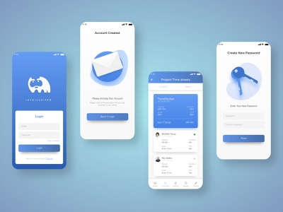 Invoice Hippo treinetic ux ui mobile ui mobile app redesign ios invoice design remote work password reset confirmation login mobile uixu treientic currency