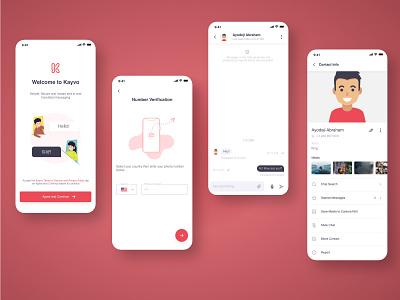 Kayvo, Translated Chat Platform design illustration adobexd uiux mobile treinetic ux ui mobile ui mobile app