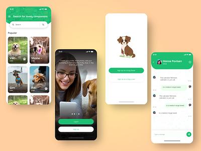 Pet Sitting App adobexd mobile app ux ui mobile ui dog sitting pet sitting pet