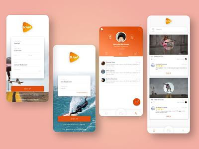 Talent Application uiux videos profile registration login