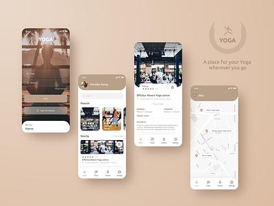 Yoga yoga mobile ui ux ui