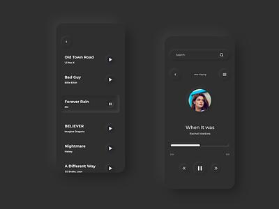 Neomorphic UI - Music palyer music player ui soft ui neomorphic treinetic mobile adobexd uiux ux ui mobile app mobile ui