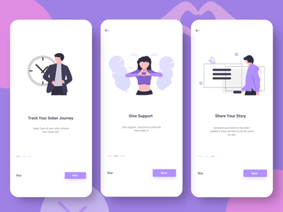 On boarding Screens ios app how it works button one color onboarding screen pagination splash screen adobexd mobile illustration mobile app ui uiux ux mobile ui design onboarding ui onboarding