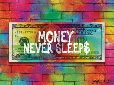 Dollar Canvas Design dollar money colorful design motivational quotes photoshop