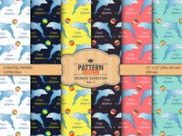 Dolphin Seamless Pattern pack