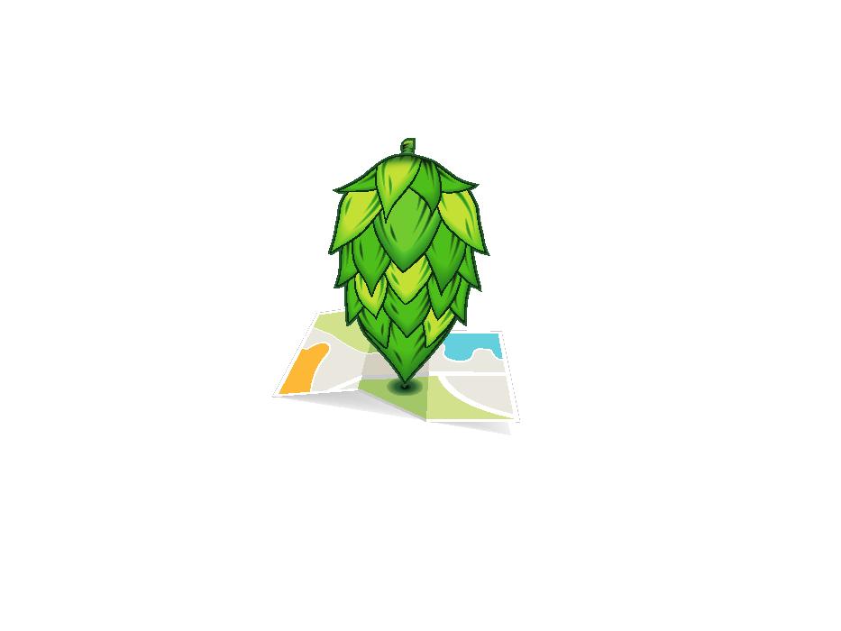 Nestop Brewing Logo map icon logo illustration draw design vector adobe illustrator