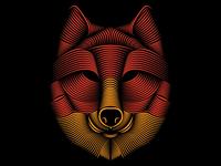 Line Art Wolf