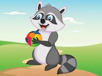 Raccoon cartoon illustration