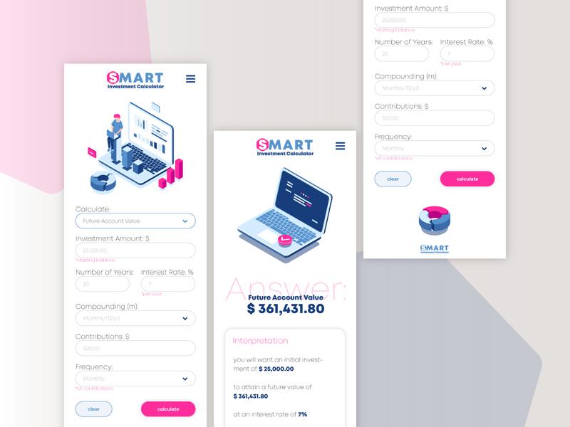 SMART - Investment calcuator calculator investment dailyui004 004 dailyui