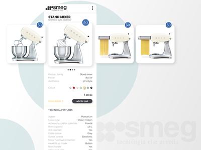 Smeg signle product E-Commerce Shop - Daily UI 012