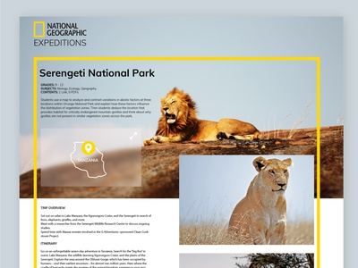 Little map for National Geographic Expeditions