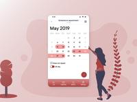 Calendar focused element