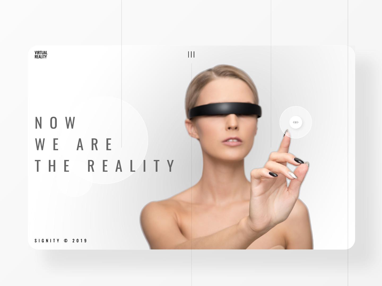 Virtual Reality webdesign digitaldesign clean landing page dailyinspiration ui dailyui 4d 3d glasses technology future virtual reality