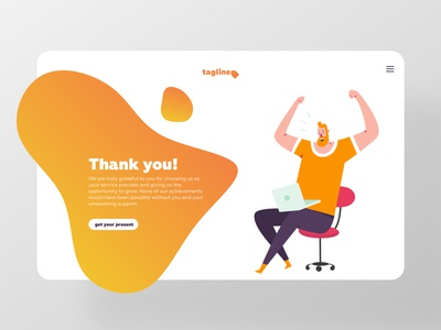 Thank you page illustration interface bulb clean webdesign gift dailyinspiration ui dailyui thank you thank you page
