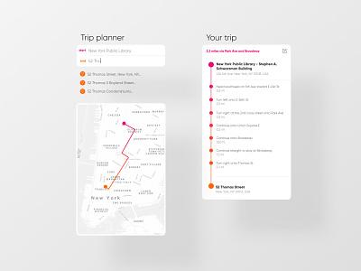 Itinerary start map destination app clean webdesign dailyinspiration ui dailyui itinerary