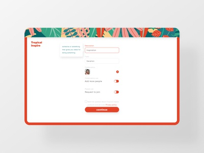 Form interface clean ui web design inspiration tropical inputs radio button forms form