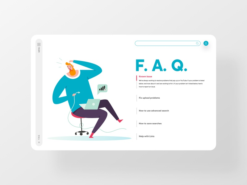 F.A.Q. interface answers webdesign questions issues illustration clean frequently asked questions dailyinspiration ui dailyui