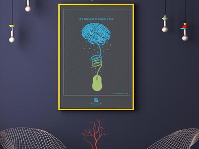 Blue Arts Poster advertising blue arts art poster design