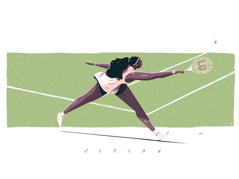 Joe Waldron 'Wimbledon' digital art serena williams wimbledon tennis illustrator illustration joe waldron