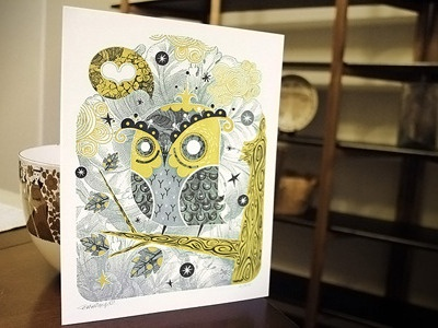 The Enamored Owl | Letterpress Anniversary Edition letterpress alberto cerriteno decorative illustration texture intrinsic detail owl love heart gift