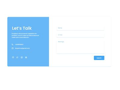 UI Components Set - Contact Card design card ui contact form elements web design agency webdesign ui