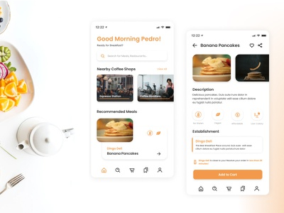 Food & Groveries Delivery App Concept food delivery app delivery app breakast food and dreak delivery