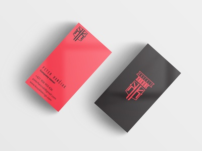 Business card for clothing company owner