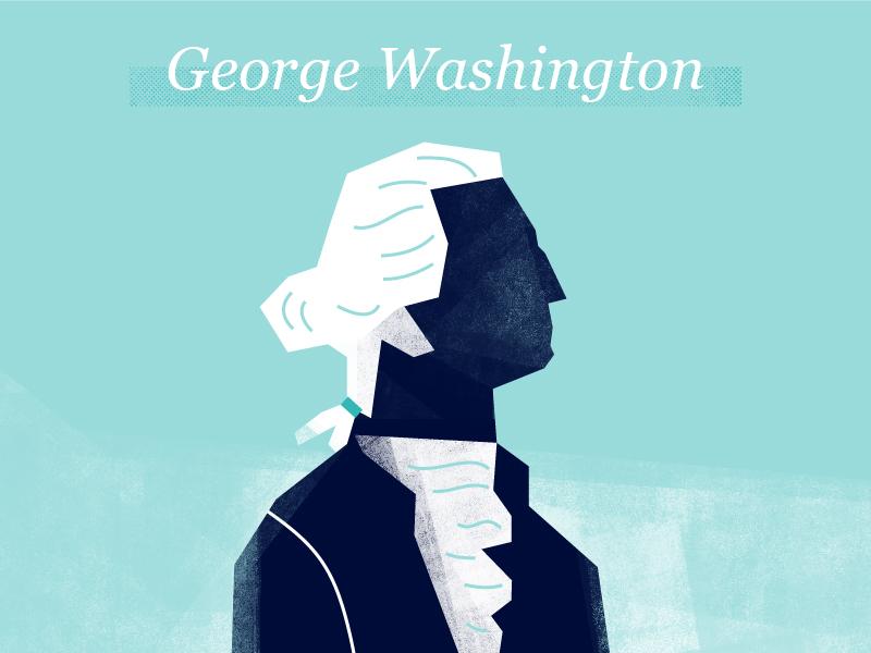 George Washington texture illustration founding fathers george washington president