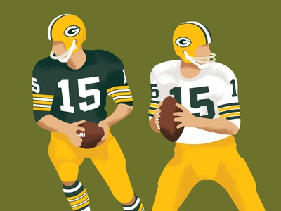 Bart Starr, Super Bowl MVP texture mvp super bowl athlete sports illustration player packers quarterback football