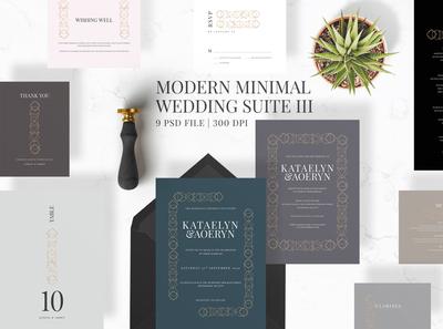 Modern Minimal Wedding Suite III